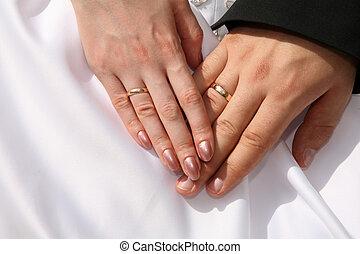 anneaux, deux mains