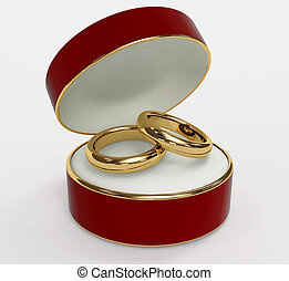 anneaux, deux, mariage