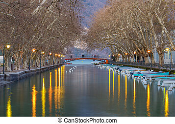 Annecy. Bridge of love.