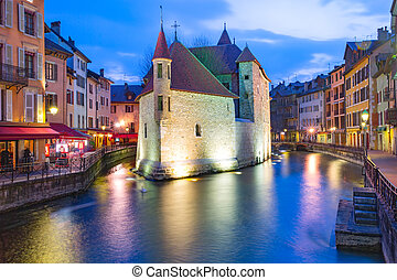 Annecy, called Venice of the Alps, France - The Palais de...