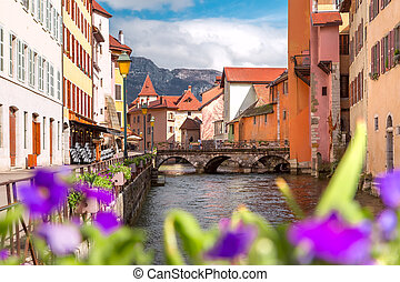 Annecy, called Venice of the Alps, France