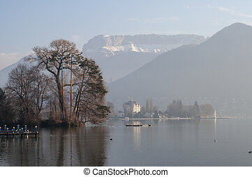 Annecy lake and city