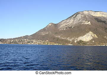 Annecy Lake and mountains