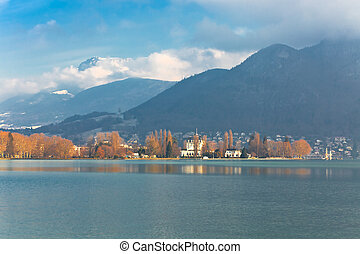 Annecy Lake at winter