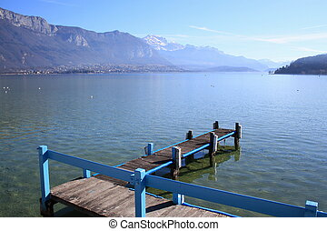 Annecy lake, France, and Alps