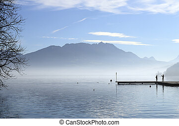 Annecy lake in France