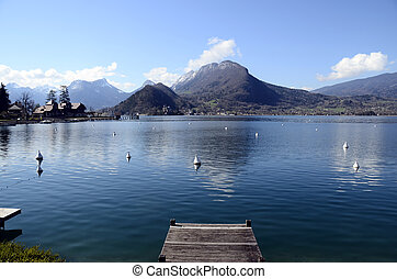 Annecy lake in Talloires, France