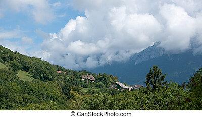 Annecy lake landscape