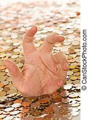 annegamento, concetto, debito