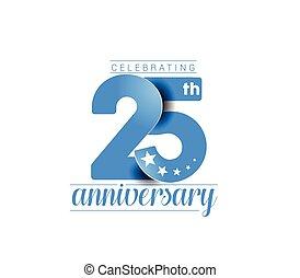 anni, 25, celebrazione anniversario, design.