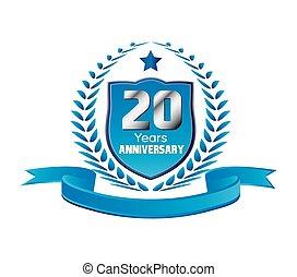 anni, anniversario, 20