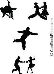 anni cinquanta, ballerini