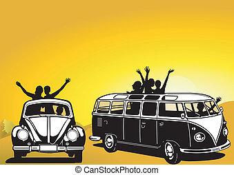 anni sessanta, viaggiare