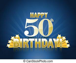 anniversaire, 50th, heureux