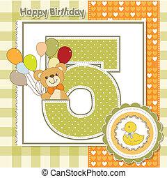 anniversaire, anniversaire, cinquième