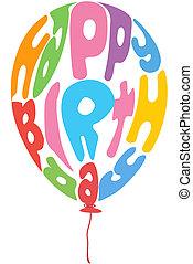 anniversaire, balloon
