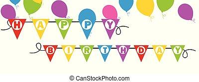 anniversaire, bannière, fond, heureux