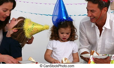 anniversaire, célébrer, famille
