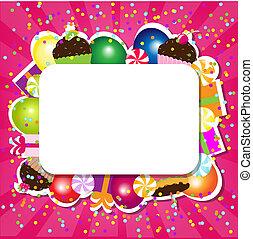 anniversaire, carte couleur