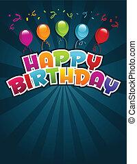 anniversaire, carte voeux, heureux
