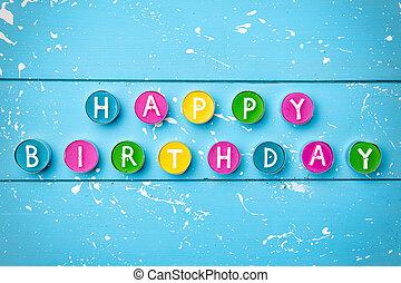 anniversaire, coloré, fond, heureux