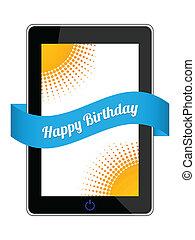 anniversaire, conception, spécial, cadeau, heureux