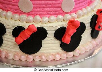 anniversaire, décoré, gâteau