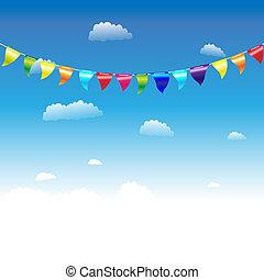 anniversaire, drapeaux