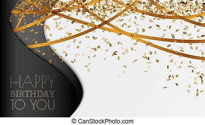 anniversaire, fond, heureux