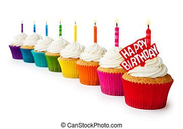 anniversaire, petits gâteaux