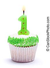 anniversaire, premier, petit gâteau
