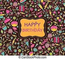 anniversaire, salutations, heureux