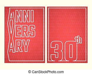 anniversario, contorno, set