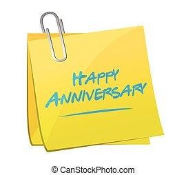 anniversario felice, promemoria, palo