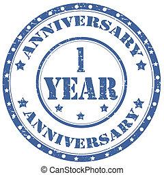 Anniversary 1 Year-stamp