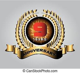 Anniversary 10 years vector set