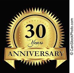 Anniversary 30 years gold vector design