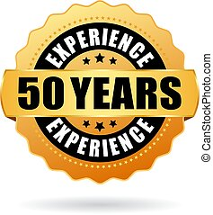 Anniversary 50 years experience vector icon