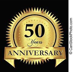 Anniversary 50 years gold vector design