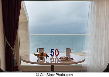 Anniversary 50 years. Happy Birthday concept