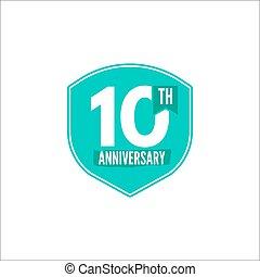 Anniversary badge. Vector illustration isolated