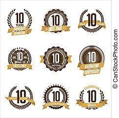 Anniversary Badges 10th
