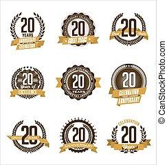 Anniversary Badges 20th
