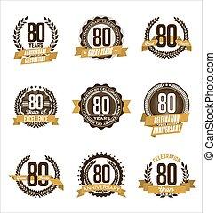 Anniversary Badges 80th