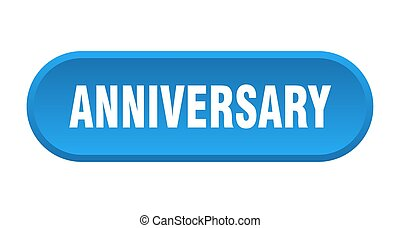anniversary button. anniversary rounded blue sign. anniversary