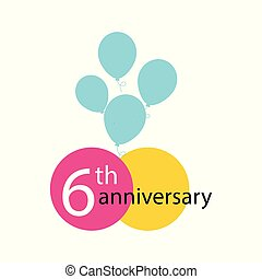 Anniversary emblem, anniversary template design for web, game ,Creative poster, booklet, leaflet, flyer, magazine, invitation card