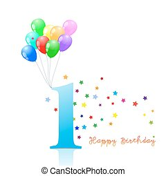 Anniversary First birthday signs collection