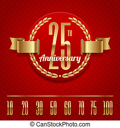 Anniversary golden emblem