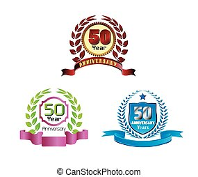 Anniversary golden laurel wreath 50