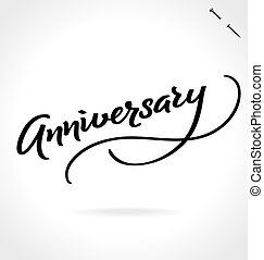 ANNIVERSARY hand lettering